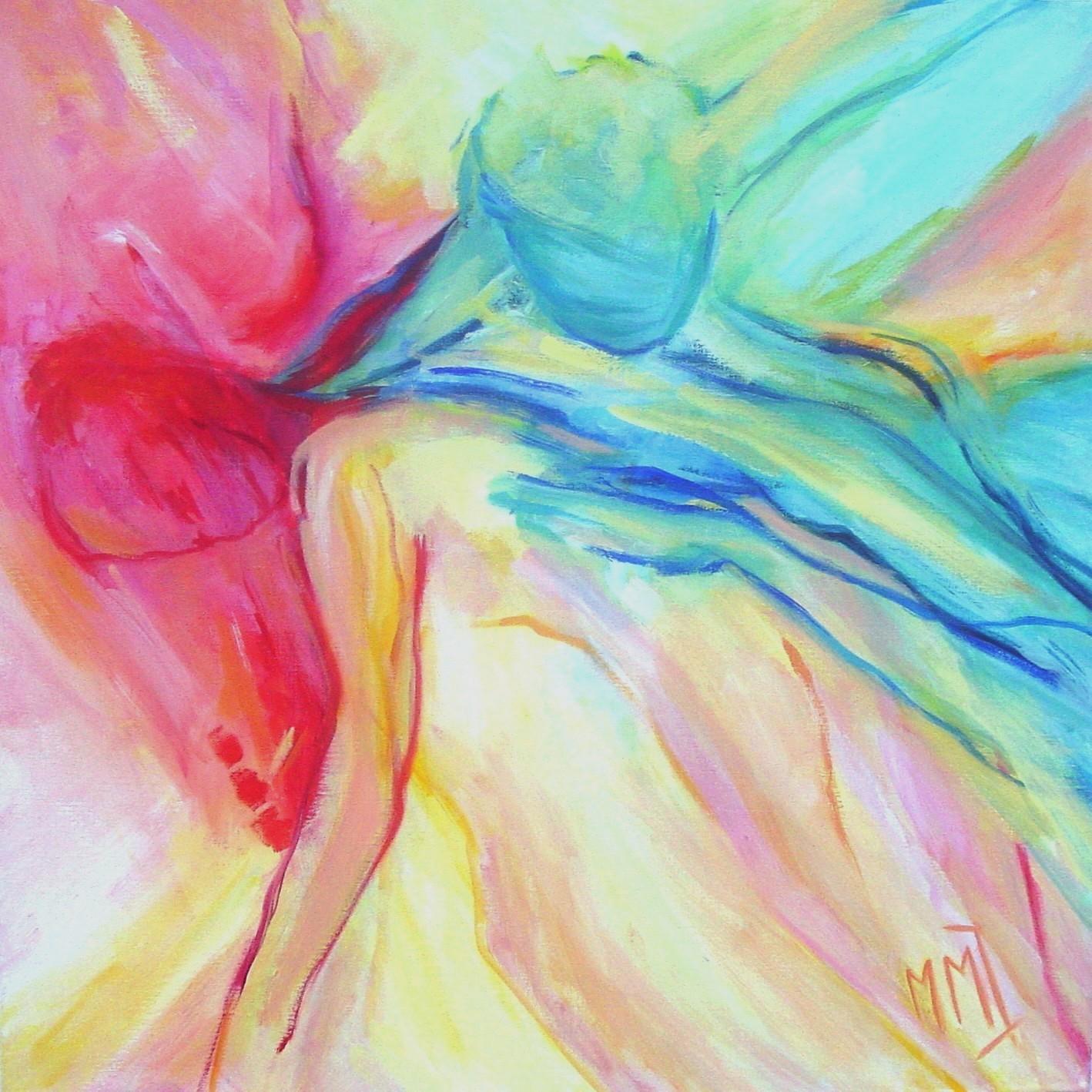 Dans, acryl op linnen, 80 x 80 cm, 2004 (verkocht)