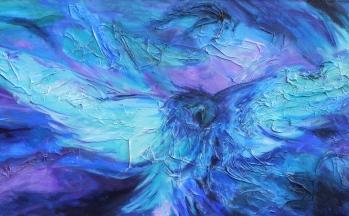 El condor passa, acryl op linnen, 65 x 140 cm, 2011 (verkocht)