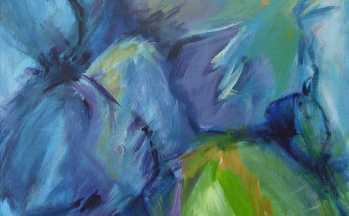 Flora IV, op linnen, 80x120 cm, 2002