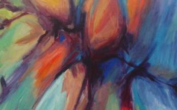 Flora V, acryl op linnen, 90 x 90 cm, 2002