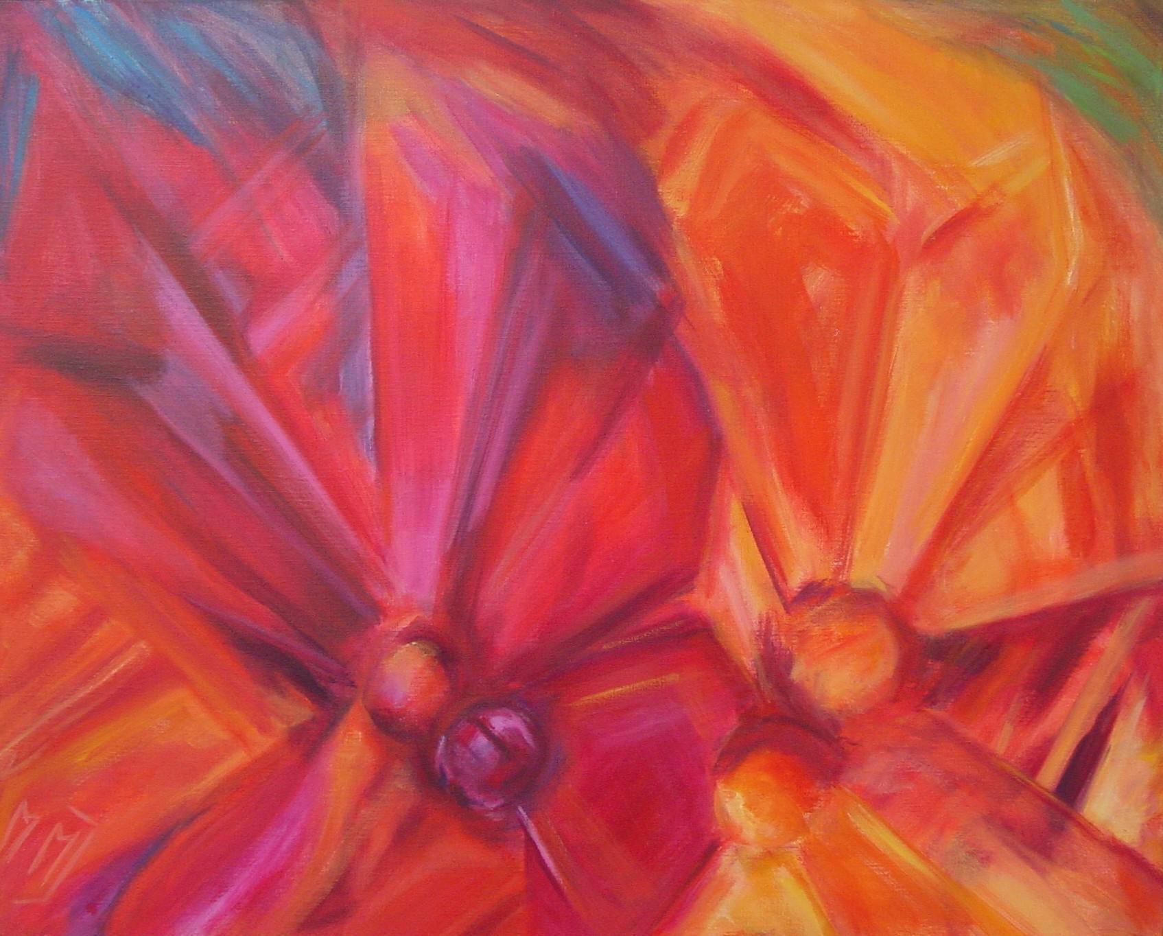 Red Poem, acryl op linnen, 80 x 100 cm, 2002