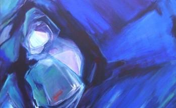 Gestolde kracht,  acryl op linnen, 80 x 80 cm, 2001