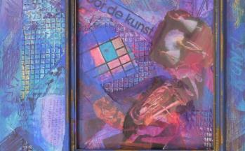 Kunst, collage op paneel, 31 x 40 cm, 2011