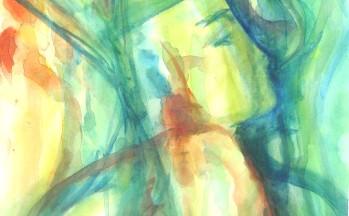 Ode aan Nefretête, aquarel op papier, 32 x 47 cm, 1998