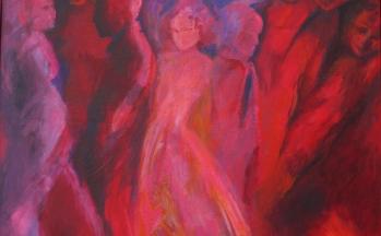 Ontmaskering, acryl op linnen, 116 x 138 cm, 2012