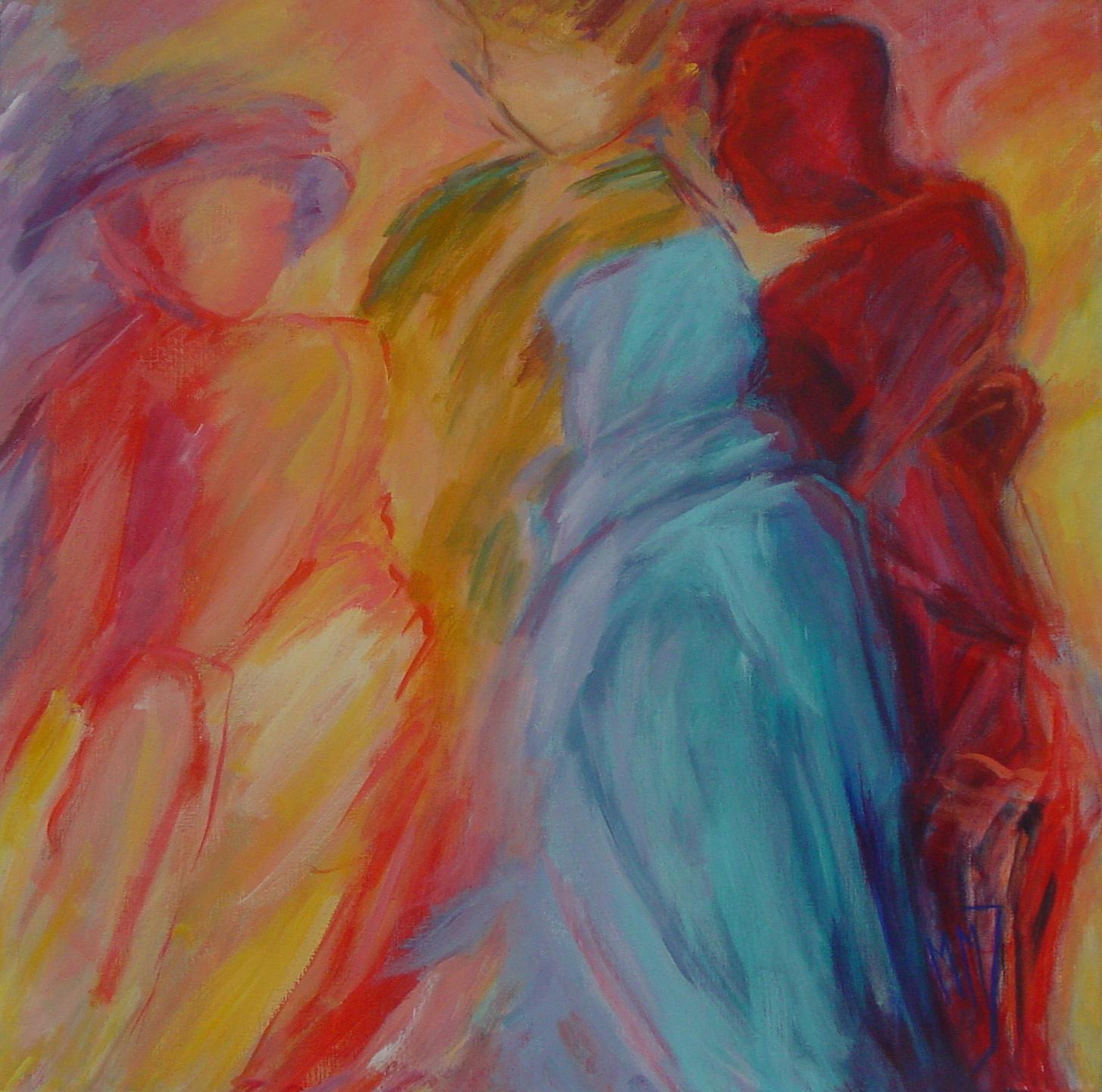 Parade, acryl op linnen, 80 x 80 cm, 2003