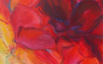 Red Delight, acryl op linnen, 80 x 80 cm, 2002