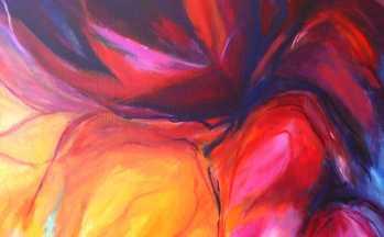 Flora VI, acryl op linnen, 80 x 100 cm, 2002 (verkocht)