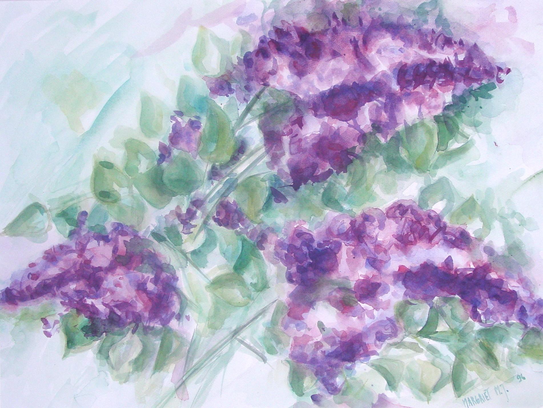 Sering, aquarel en krijt op papier, 34 x 48 cm, 1996