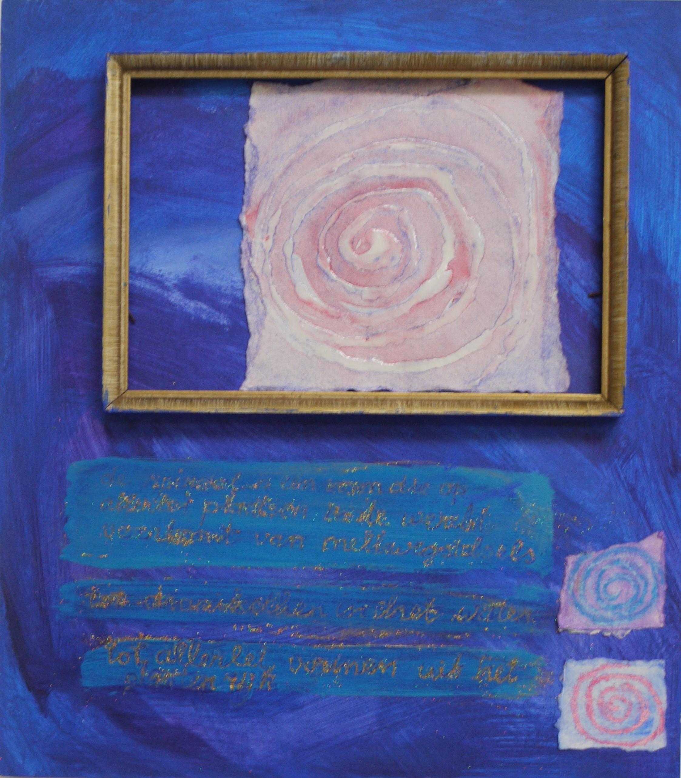 Spiraal, collage op paneel, 30 x 34 cm, 2011