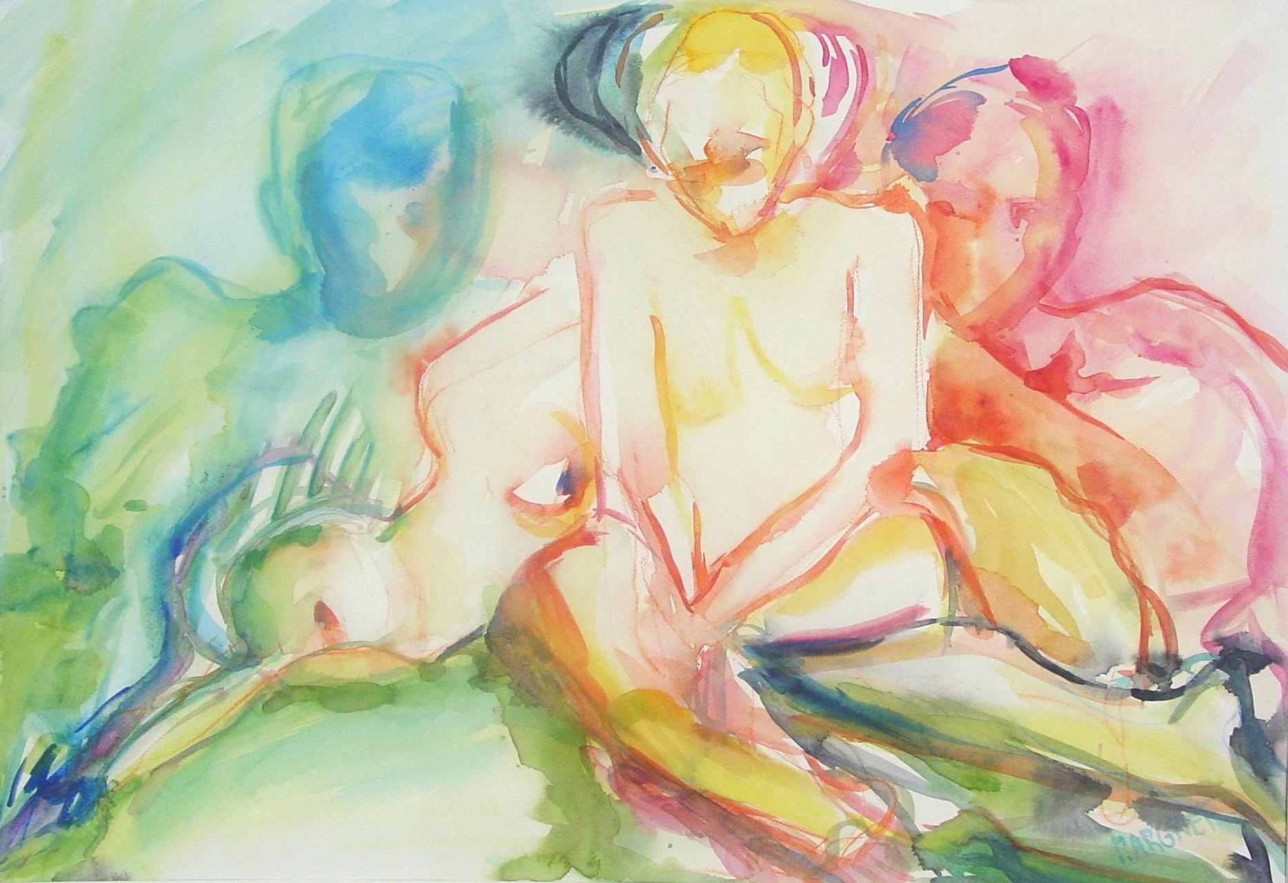 Summertime I, aquarel op papier, 48 x 69 cm, 2000