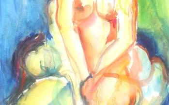 Summertime II, aquarel op papier, 48 x 69 cm, 2000