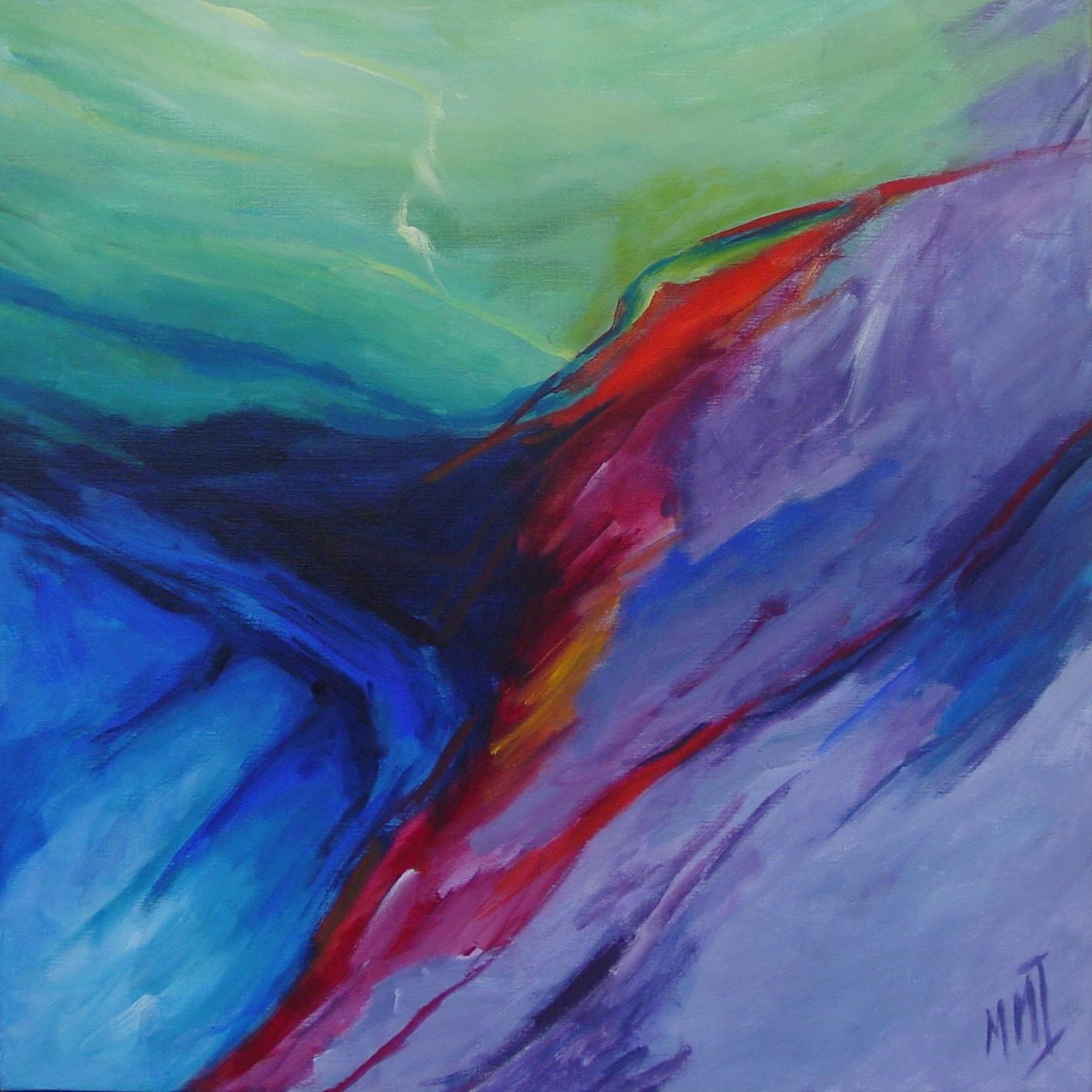 Una bella vista, acryl op linnen, 90 x 90 cm, 2004