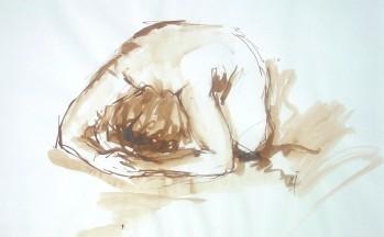 Z.t., bister op papier, 33 x 47 cm