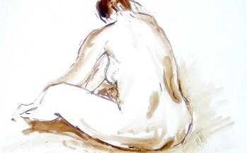 Z.t., bister op papier, 29 x 40 cm