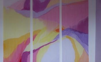 Wandkleed, acryl, doek, stok, 160 x 60 (3x), 2010
