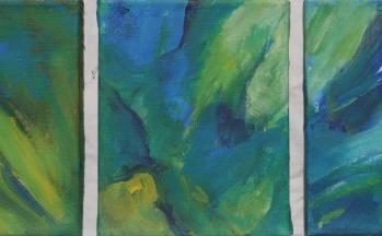 z.t., acryl op linnen, 20 x 25 cm (3x)