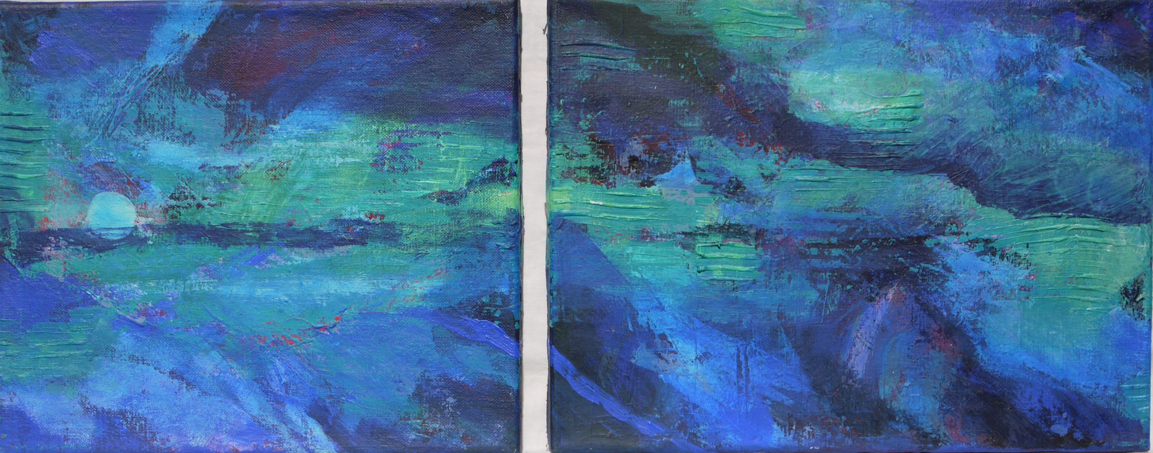z.t., acryl op linnen, 30 x 35 en 30 x 40 cm