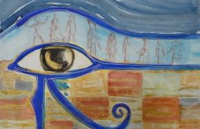 z.t., aquarel, acyl, potlood op papier, 50 x 65 cm
