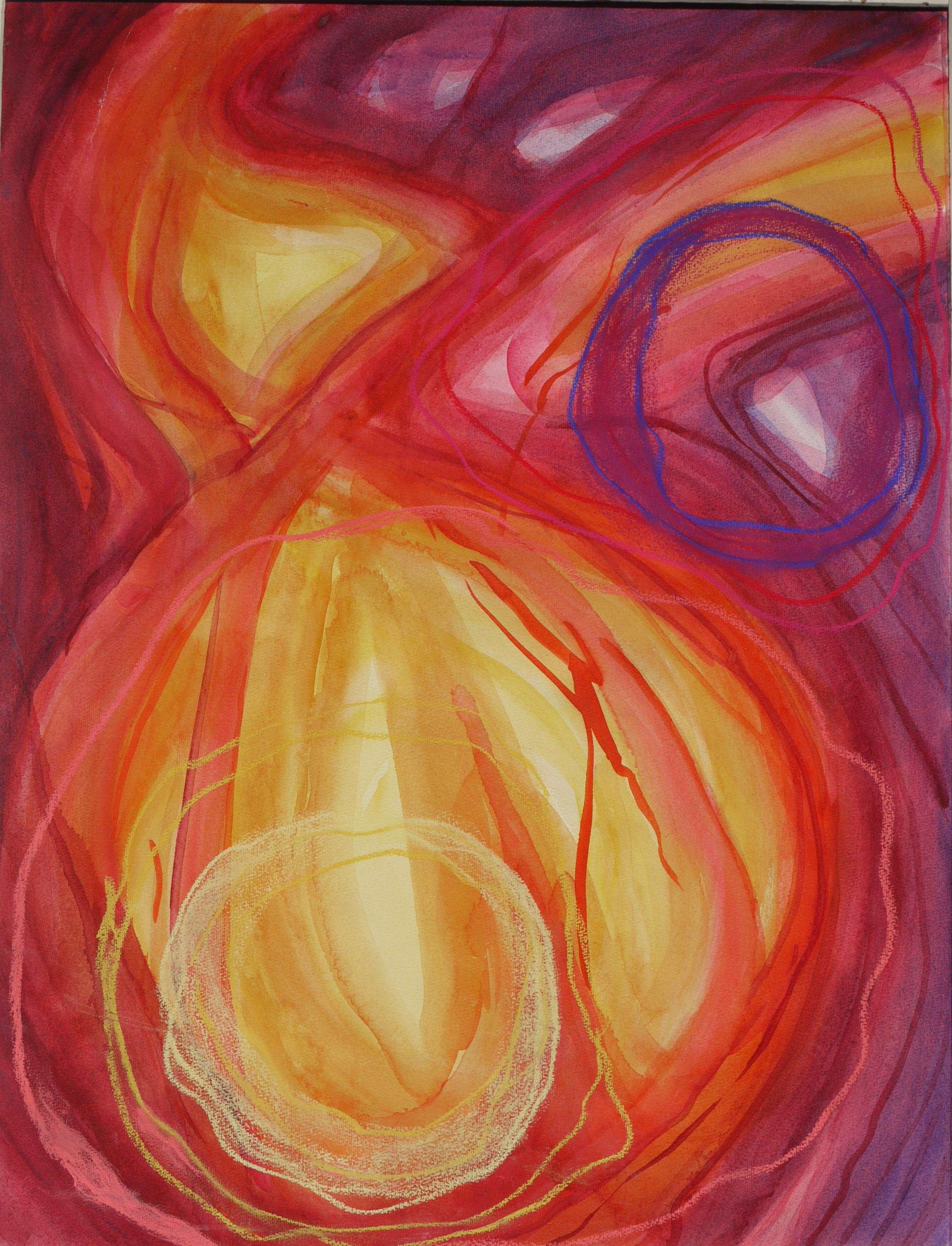 z.t., aquarel, krijt op papier, 50 x 65 cm