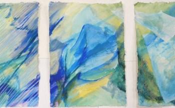 z.t., aquarel, krijt, rijstpapier op papier, 21,5 x 29 cm (3x)