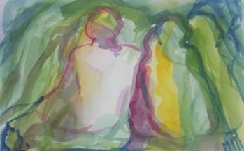 z.t., aquarel op papier, 11,5 x 16,5 cm, 2005