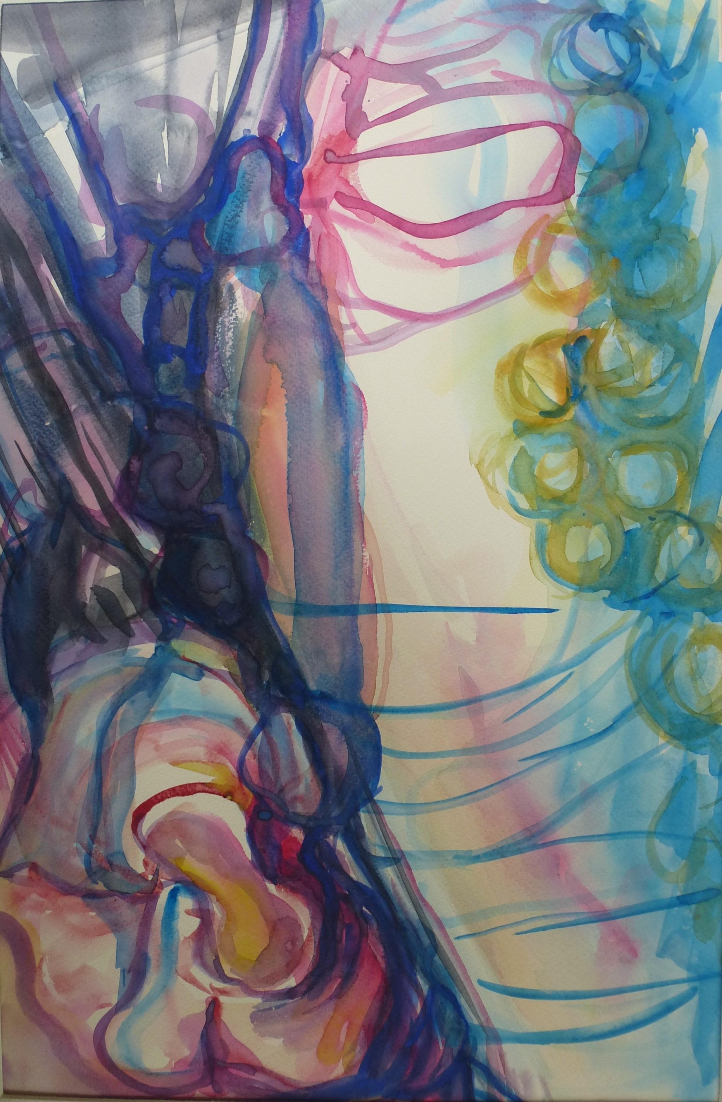 z.t., aquarel op papier, 30 x 45 cm