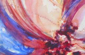 z.t., aquarel op papier, 45 x 45 cm