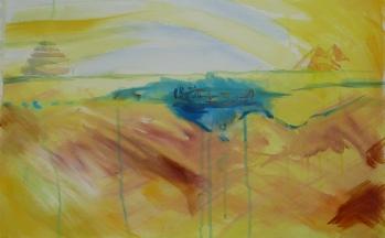 z.t., aquarel op papier, 50 x 65 cm
