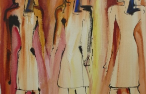 z.t., inkt, acryl, aquarel op papier, 47 x 62 cm