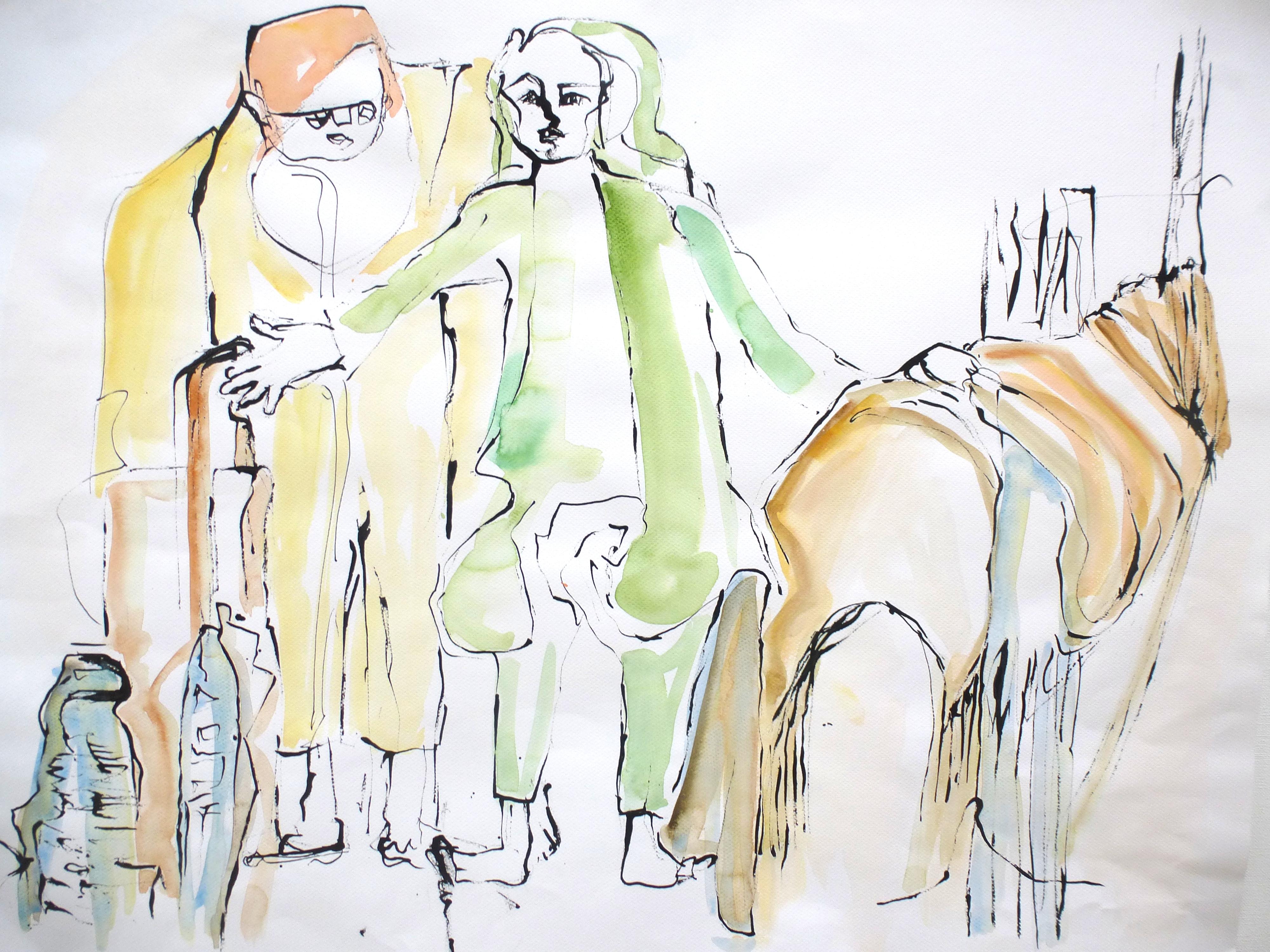 z.t., inkt op papier, 2013